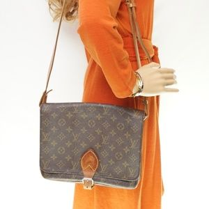 Auth Louis Vuitton Cartouchiere Gm Bag #1082L19
